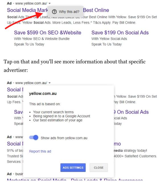 Google transparentné tlačidlo